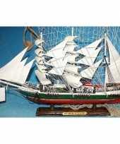 Decoratie houten model schip r rickmers 50 cm trend