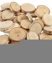 Decoratie houten schijfjes 140 stuks trend