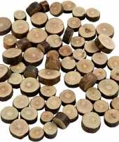 Decoratie houten schijfjes 230 gr trend 10139815