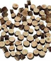 Decoratie houten schijfjes 230 gram trend
