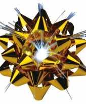 Decoratie kadostrik goud met lichtje trend