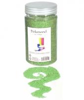 Decoratie korrelzand groen 500 gram trend
