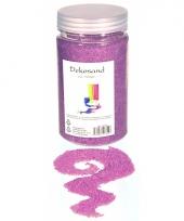 Decoratie korrelzand paars 500 gram trend