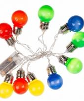 Decoratie led verlichting gekleurde peertjes bundel trend