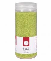 Decoratie materiaal groen zand trend