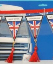 Decoratie mini vlaggenlijn engeland 60 cm trend