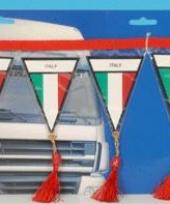 Decoratie mini vlaggenlijn italie 60 cm trend