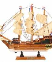 Decoratie miniatuur model zeiljacht boot batavia 24 cm trend