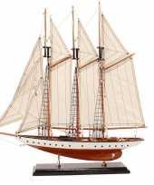 Decoratie miniatuur model zeiljacht boot rochelle 56 cm trend
