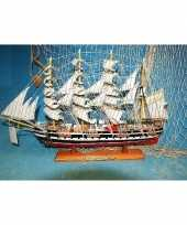 Decoratie miniatuur zeilschip kruzenshtern 50 cm trend
