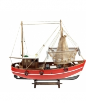 Decoratie model vissersboot 45 cm trend 10076824