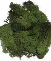 Decoratie mos donkergroen 50 gram trend