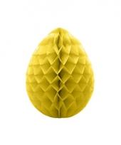 Decoratie paasei geel 10 cm trend