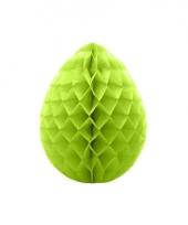 Decoratie paasei groen 10 cm trend
