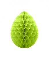 Decoratie paasei groen 30 cm trend