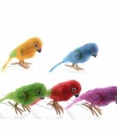 Decoratie papegaai 30 cm blauw trend