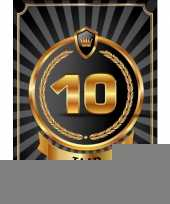 Decoratie poster 10 jaar zwart en goud trend