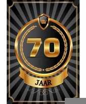 Decoratie poster 70 jaar zwart en goud trend