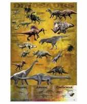 Decoratie poster dinosaurus 61 x 91 5 cm trend