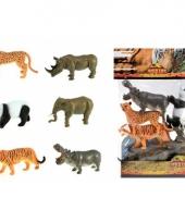 Decoratie safari diertjes 6 stuks trend