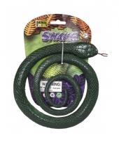 Decoratie slang groen 90 cm trend