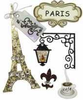 Decoratie stickers parijs 5 stuks trend