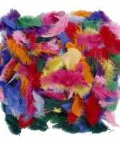 Decoratie veren gekleurd 50 gram trend