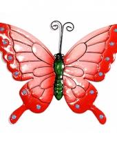 Decoratie vlinder roze 22 cm trend
