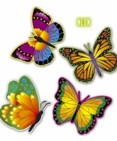 Decoratie vlindertjes van karton trend