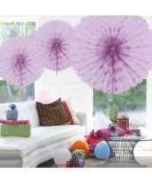 Decoratie waaier lila 45 cm trend