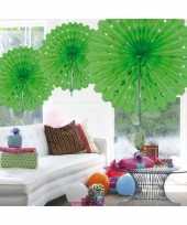 Decoratie waaier lime groen 45 cm trend