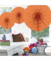 Decoratie waaier zalm roze 45 cm trend