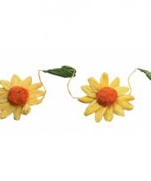 Decoratie zonnebloemen slinger geel oranje trend