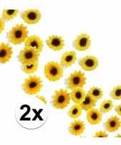 Decoratie zonnebloemetjes pakket van 2 zakjes trend