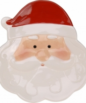 Decoratiebord kerstman 24 cm trend