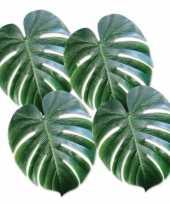 Decoratieve palm bladeren 4 stuks trend