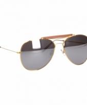 Deluxe zonnebril met zilveren glazen trend