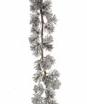 Dennentak kunstplant 120 cm met besneeuwde dennenappels trend