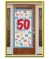 Deurposter 50 jaar 150 cm trend