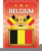 Deurposter belgie rood trend