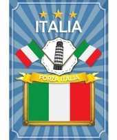 Deurposter forza italia blauw trend
