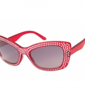 Diamond zonnebril met glitter steentjes trend