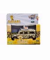 Diecast safari land rover autootje 20 cm trend