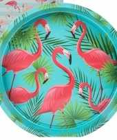 Dienblad flamingo palm 33 cm trend