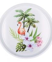 Dienblad flamingo tropisch 33 cm trend