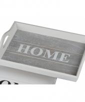 Dienblad home grijs 38 cm trend