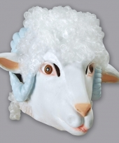 Dieren masker ram schaap wit trend