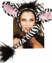 Dieren verkleedset zebra trend