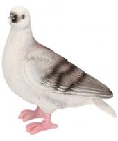 Dierenbeeld duif grijs 20 cm trend