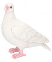 Dierenbeeld duif wit 20 cm trend